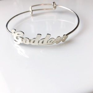 Jewelry - JUST IN Sterling Silver Plated Goddess Bangle